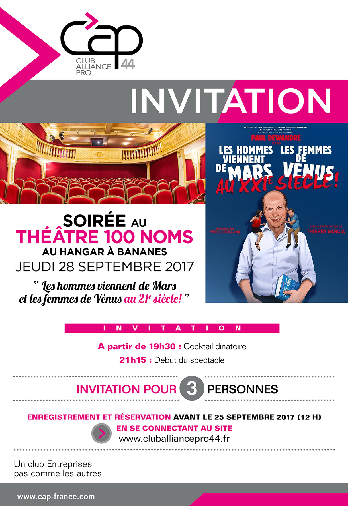 invitation Théatre 100 Noms